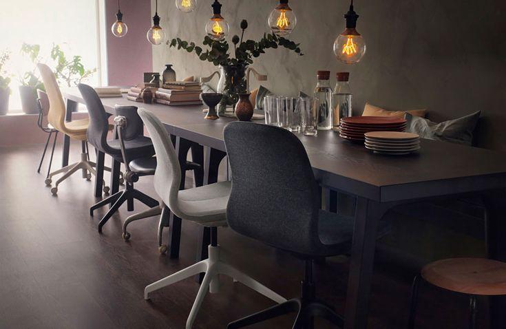 f hlt sich nicht nur im b ro zu hause ikeas neuer drehstuhl l ngfj ll interior pinterest. Black Bedroom Furniture Sets. Home Design Ideas