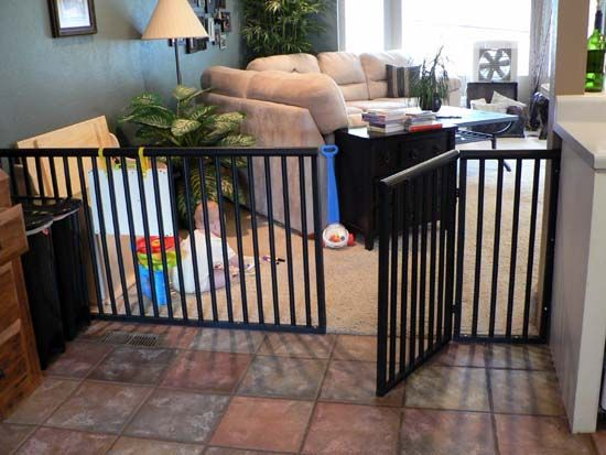 DIY any-size dog or baby gate. These things are so so expensive to buy! Nice alternative to save money.