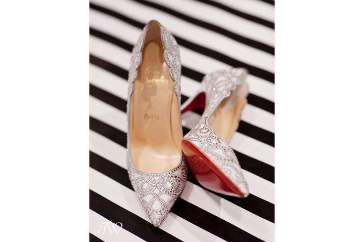 "Calgary wedding photographer   100 wedding shoe posts   Christian Louboutin ""Top Vague Crystal Pumps"" from Holt Renfrew Calgary"