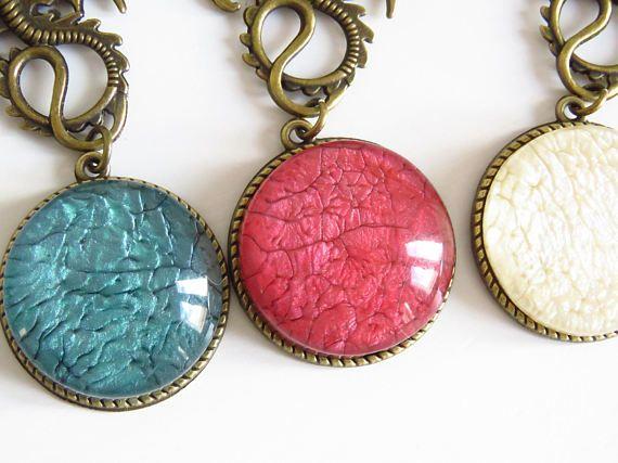 collar vintage de dragon colgantes vintage bronce con