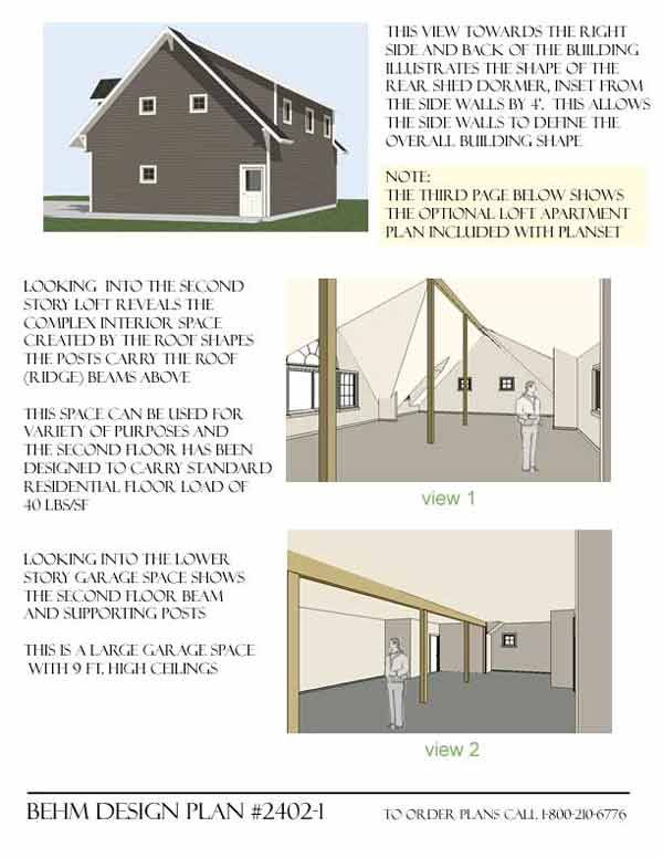 Best Carriage House 4 Car Garage Plans With Loft 2402 1 By Behm 400 x 300