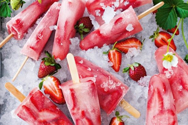 With only two ingredients and just 5 minutes preparation time, these strawberry and coconut ice-blocks really are the easiest ever!