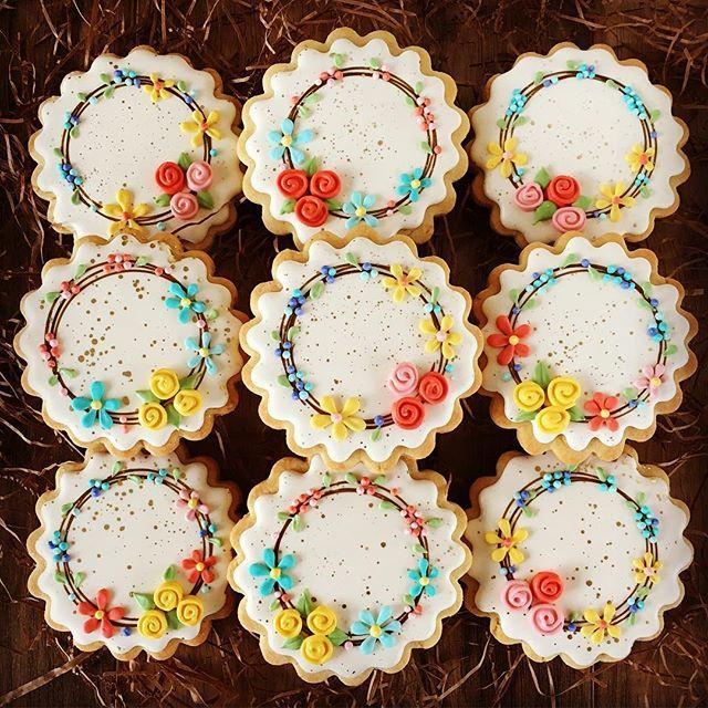 flower wreaths...@melissajoycookies