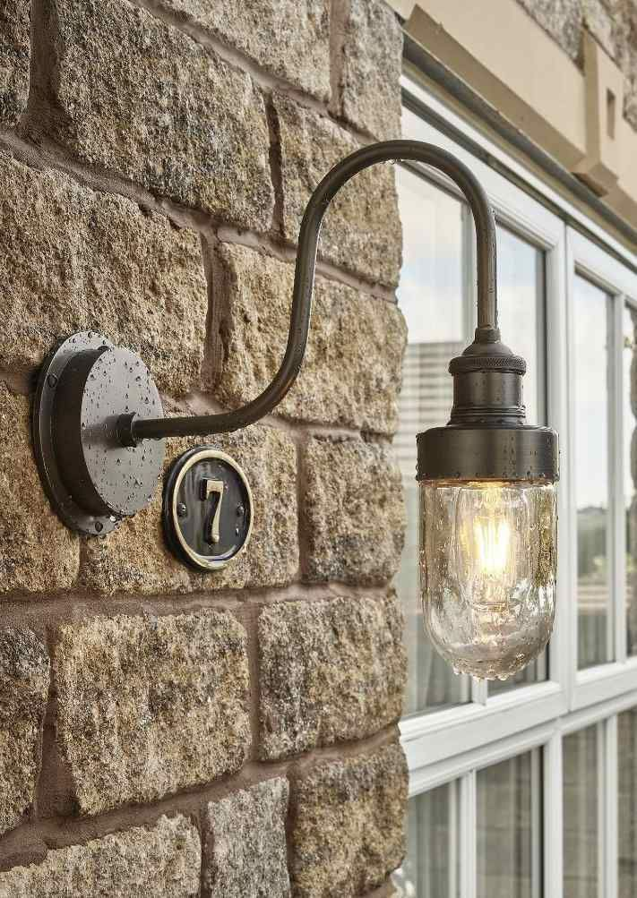 Swan Neck Outdoor Bathroom Wall Light In Pewter By Industville In 2019 Lime Lace Loves Industville Lighting Bathroom Wall Lights Wall Lights Outdoor