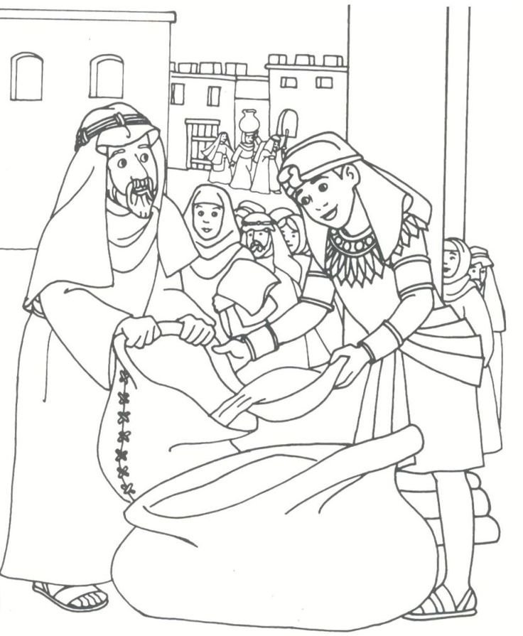 joseph and potifer coloring pages - photo#20