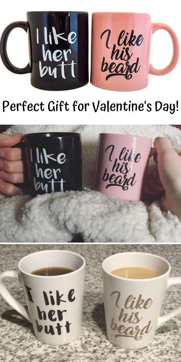 Nice Valentine's Day Gift for him. These cute couples cups are a perfect gift for … – Gift Ideas For Boyfriend – #Boyfriend #This #e …