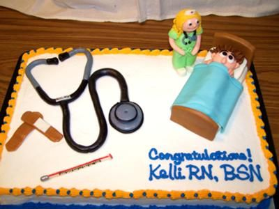 Cake Decorations For Nurses : RN grad cake PARTY TIME Pinterest Graduation ...