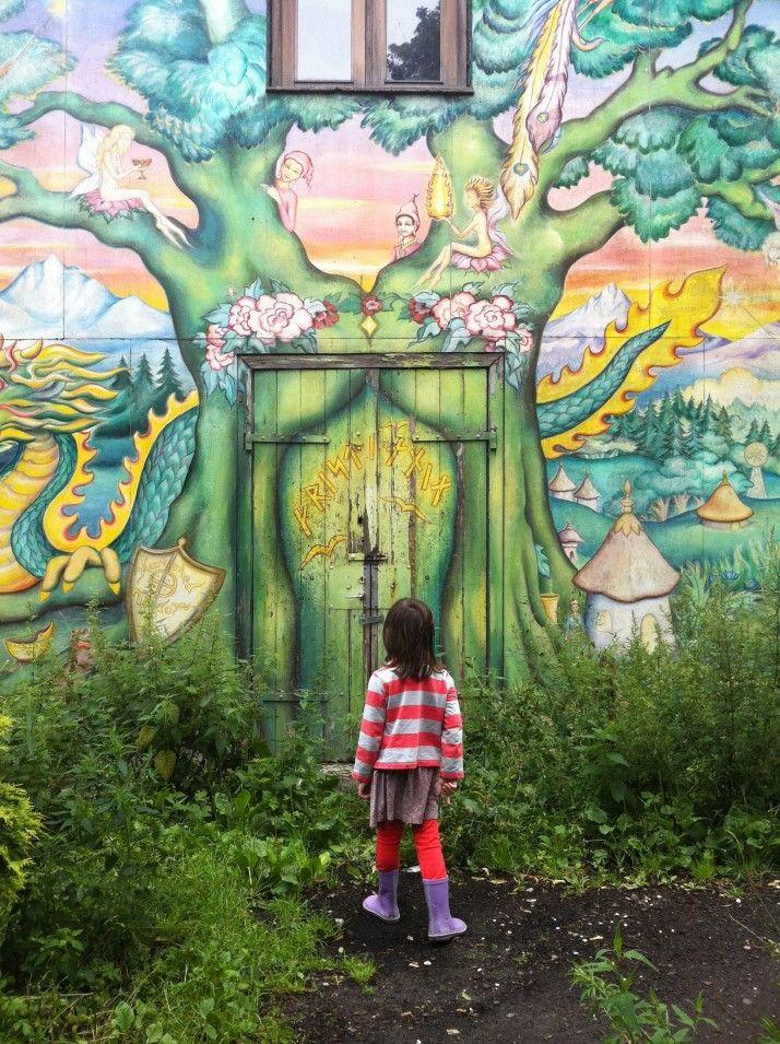 magical entrance.: Fantasy Illustrated Doorway, Art Photography, Secret Garden, Portal, Street Art, Doors Entryways Art Ill, Doors Windows Architectural, Kid