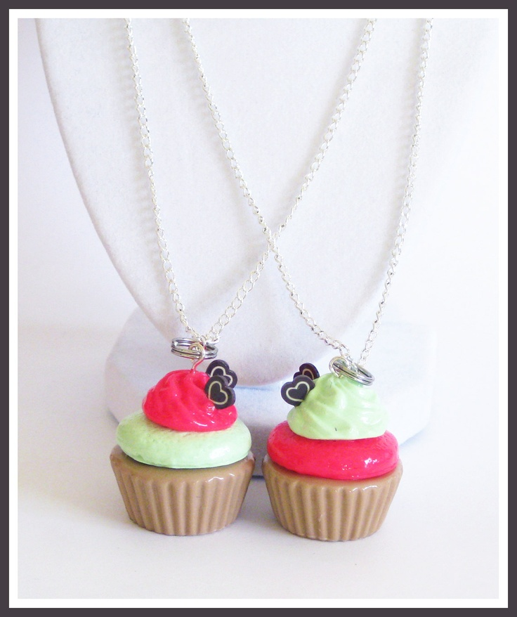 BFF Cupcake Necklaces