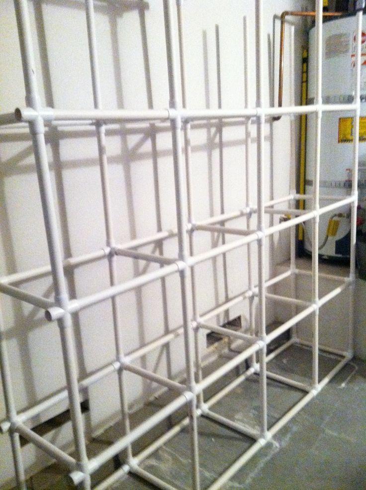 diy saturday u2013 pvc tote storage organizer - Wreath Storage Box