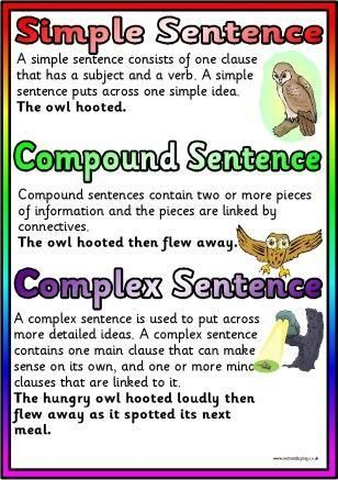 Types of sentences free poster download, print and display today!