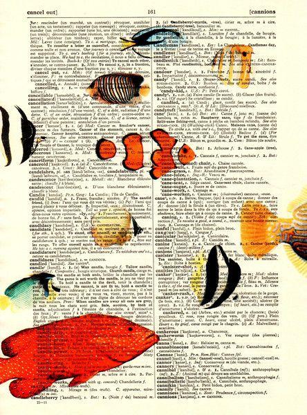 Originele prints - Sea Life Kunstdruk Vintage Original Prints - Een uniek…
