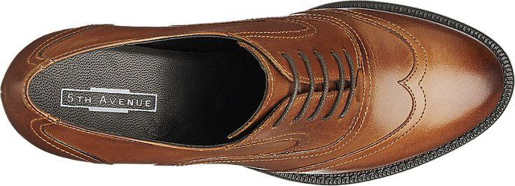 5th Avenue Ladies' Cognac Leather Formal Lace-up Shoes   Deichmann
