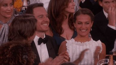 Favorite Couple on Earth <3  Michael Fassbender and Alicia Vikander Share Sweet PDA at 2016 Golden Globes  Michael Fassbender, Alicia Vikander, Golden Globes
