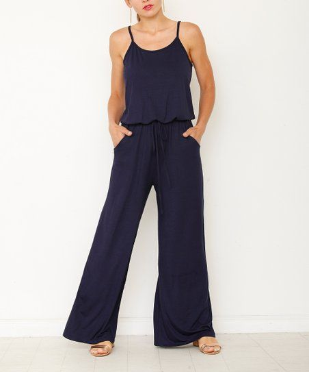 73897b907893 éloges Navy Wide-Leg Jumpsuit - Women   Plus