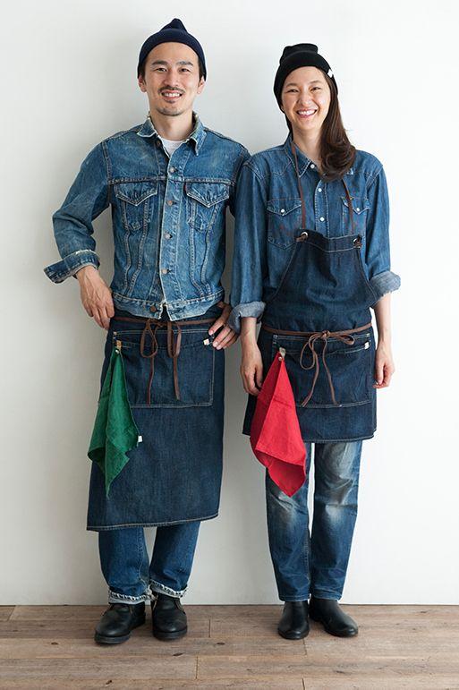DENIM APRON (Long)   Simply online shop(シンプリー公式通販)