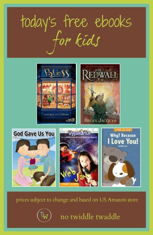 Today is one of the best days to download free eBooks for kids. Today's list includes:  Redwall by Brian Jacques  Bliss by Katheryn Littlewood  The Golden Acorn by Catherine Cooper