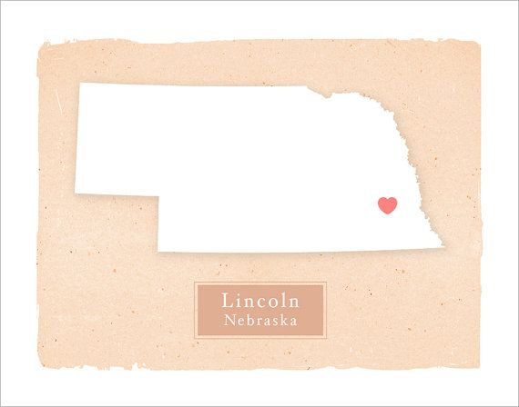 NEBRASKA art print  Personalized Home decor  by delovelyArts, $23.50