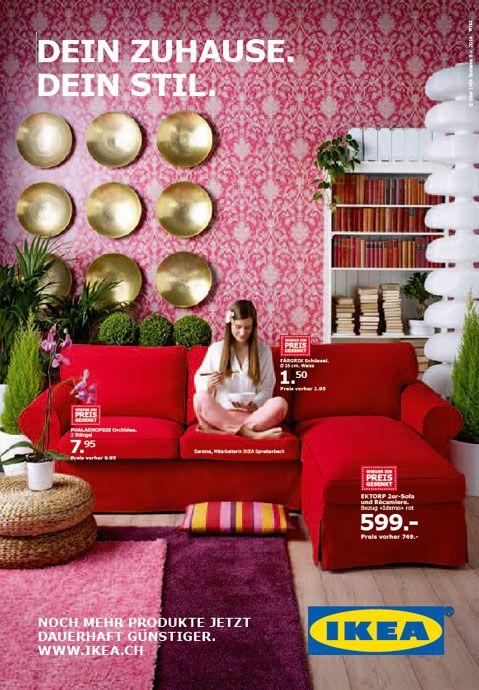 Die Aktuellen Plakate Von Wirz Werbung Zeigen Ikea Mitarbeitende Und Produkte Mit Gesenktem Preis
