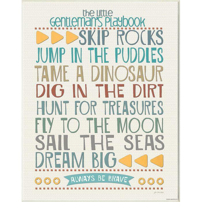 Little Gentleman's Playbook Wall Decor | Joss & Main