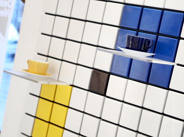 Confetti shelf system customized: 4 modules, mixed colors (detail). #tentlondon15 #nordicdesign #shelfsystem #scandinaviandesign #interiordesign #flexibleshelfsystem