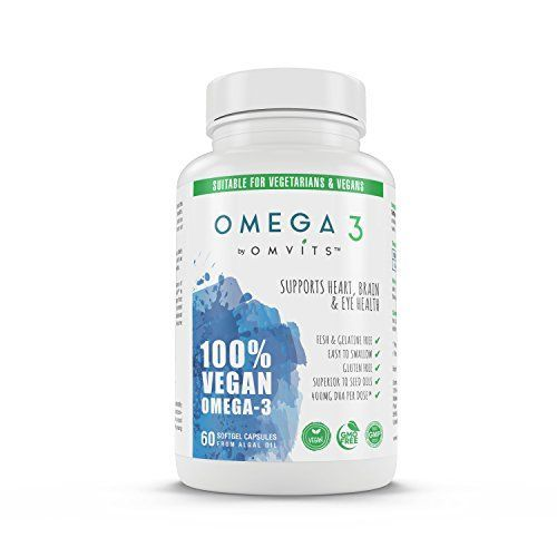 The Product Omvits 100% Vegan Omega 3 DHA Supplement – 60 Algae Oil Capsules with Vitamin E – Sustainable Alternative to Fish Oil – Essential Fatty Acids – GMO Free – Supports Heart, Brain and Eye Health  Can Be Found At - http://vitamins-minerals-supplements.co.uk/product/omvits-100-vegan-omega-3-dha-supplement-60-algae-oil-capsules-with-vitamin-e-sustainable-alternative-to-fish-oil-essential-fatty-acids-gmo-free-supports-heart-brain-and-eye-hea