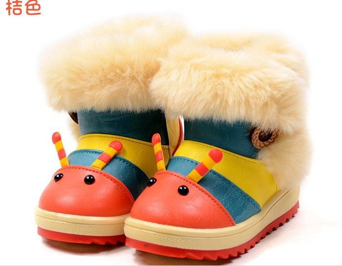 caterpillar cartoon children's snow boots