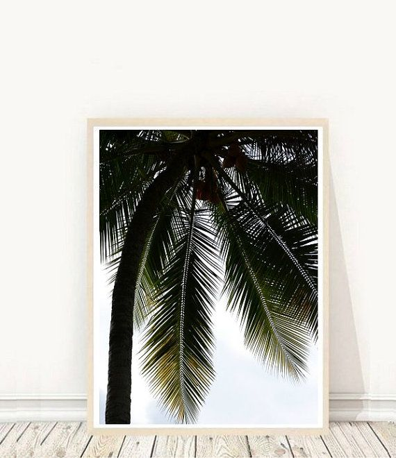 Prints from $7.92 on Etsy Tropical Art Palm Tree Printable Art  Palm Tree Wall Art