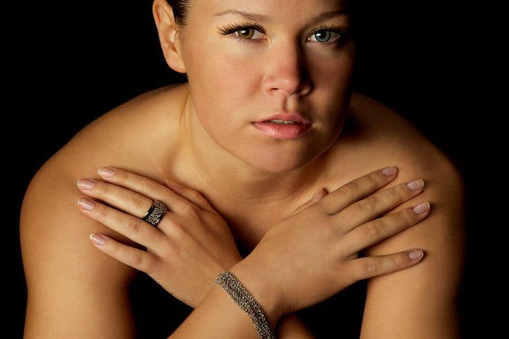 Model Ilona Mattila, photography, Janne Kommonen, postproduction Tuula Kainulainen, stretch silver bracelet and ring by Calgaro, Italy.