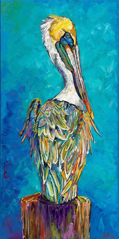 Pelican Azul by Becky Fos #imposto #beckyfos #Cyan
