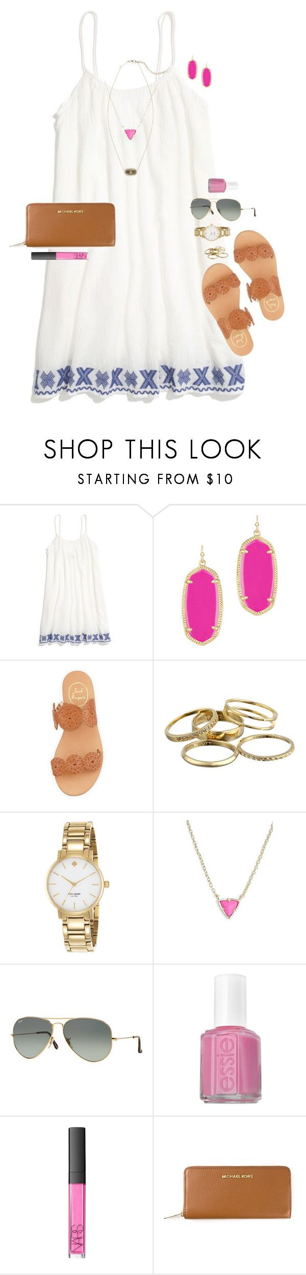 """""""so sorry this is late, but happy easter y'all!!"""" by smbprep ❤ liked on Polyvore featuring Madewell, Kendra Scott, Jack Rogers, Kate Spade, Ray-Ban, Essie, NARS Cosmetics and MICHAEL Michael Kors"""