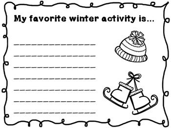 after christmas break writing activity for second
