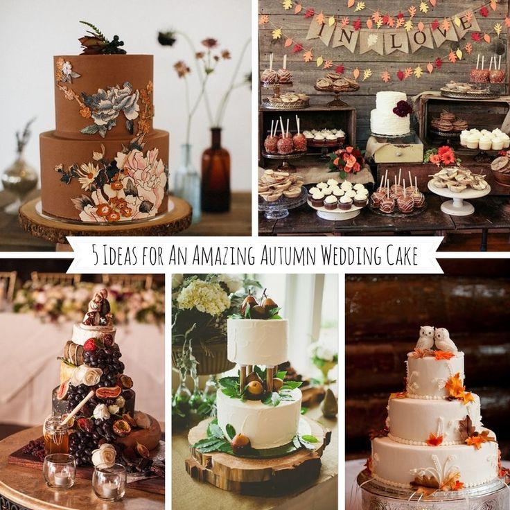 5 Ideas For Amazing Autumn Wedding Cakes