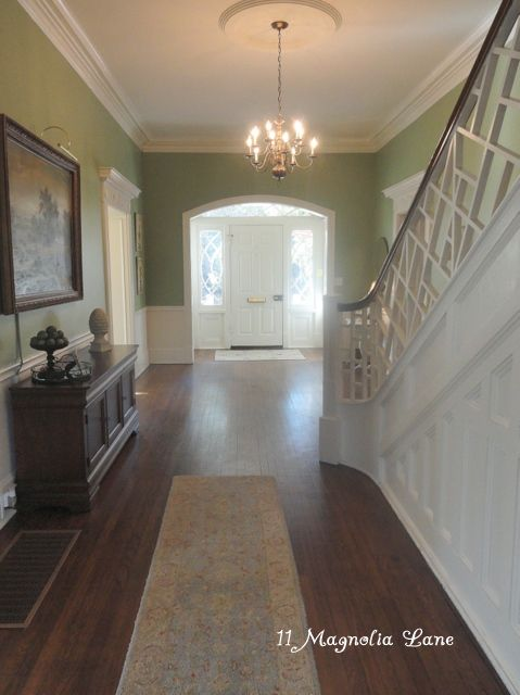 Historic House Foyer - love the bannister!