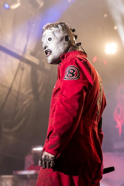 Corey Taylor of Slipknot in Oklahoma City.