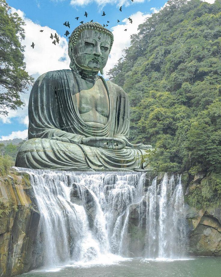 photoshop ideas, photo manipulation, dreamy aesthetic, buddha art, buddha artwork, japan travel, japan aesthetic, imagination, imagination art