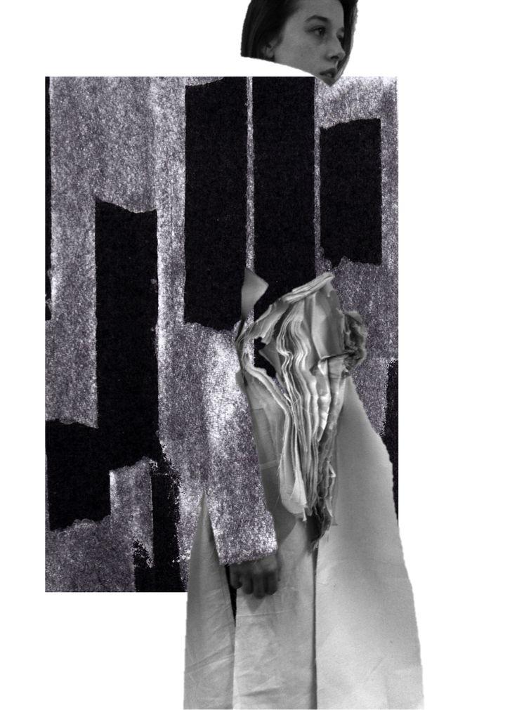 Fashion Sketchbook - fashion design collage; fashion portfolio // Connie Blackaller