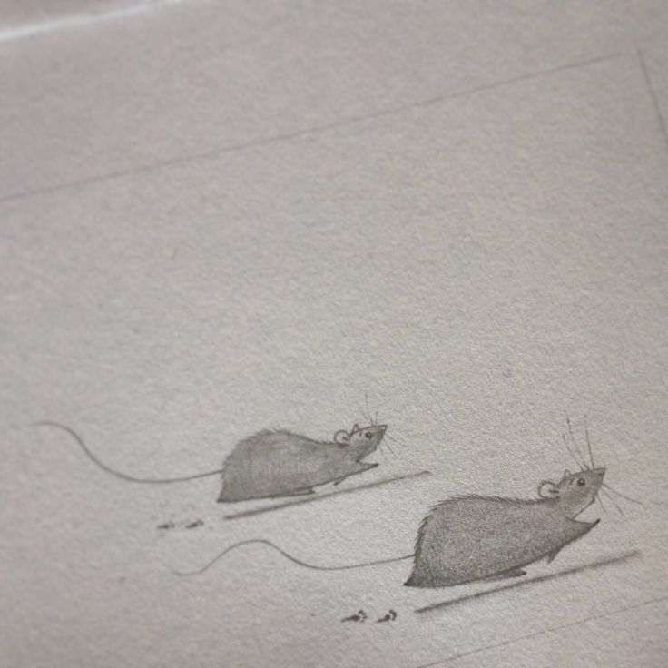 Little rats running, little paw prints, by www.nadyart.nl
