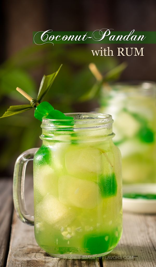 Coconut-Pandan with RUM | @Wok with Ray