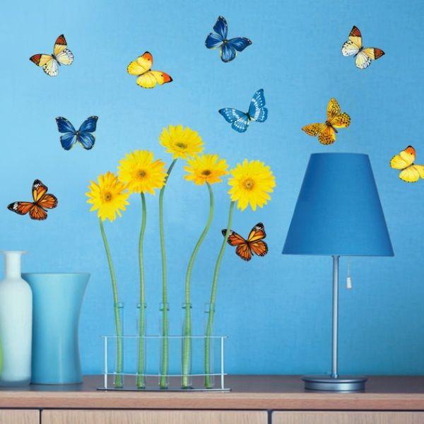 "Интерьерные наклейки ""Полевые бабочки"" http://decoretto.ru/babochki-dekor-sten-babochkami/polevyie-babochki/"