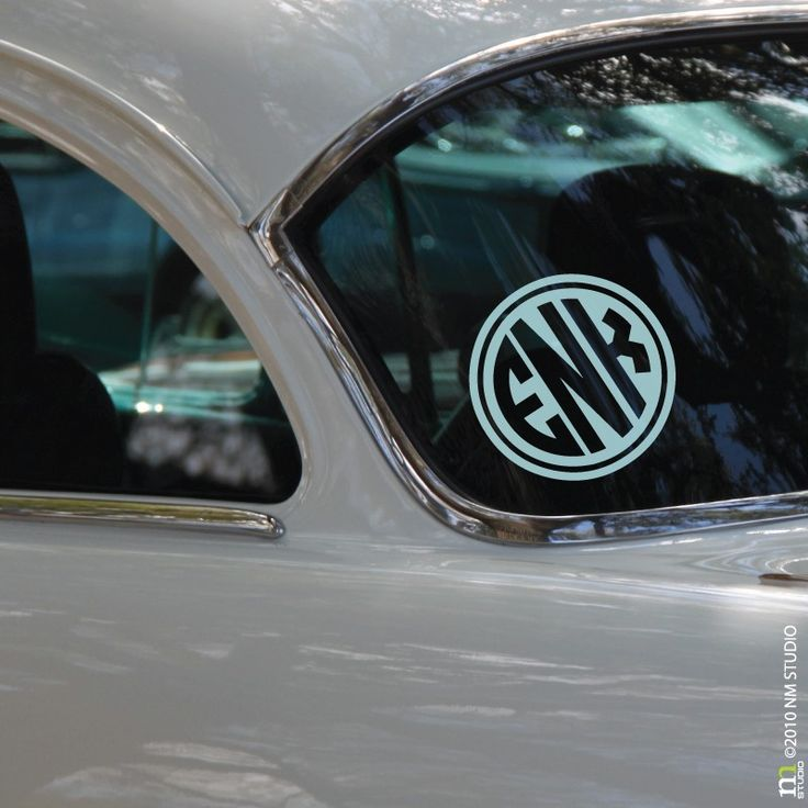Best Images About Monogram Car Decals On Pinterest Cars - Circle monogram car decal