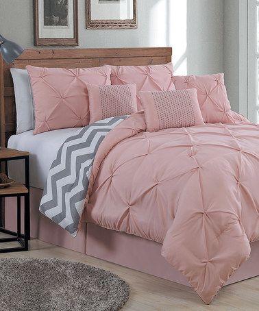 Blush Ella Seven-Piece Comforter Set #zulilyfinds