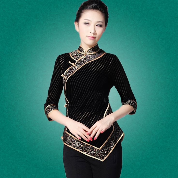 wonderful black modern cheongsam blouse chinese shirts