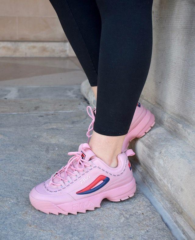 watch d59f1 2a577 Pop of Pink  FILA Disruptor 2   SHOES   Fila disruptors, Sneakers nike,  Shoes