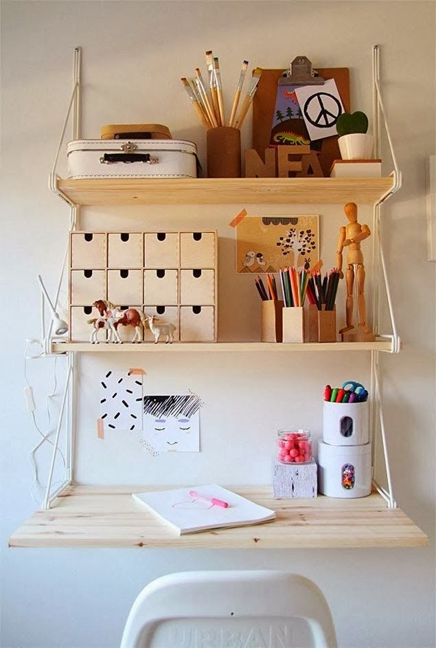 Ekby Gallo shelf turned into a compact desk space <3