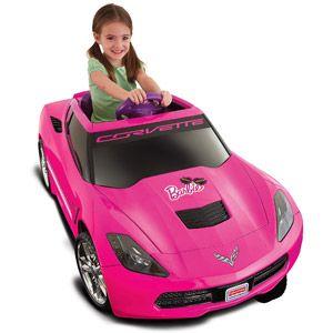 Fisher-Price Power Wheels Girls' Barbie Corvette 12-Volt Battery-Powered Ride-On