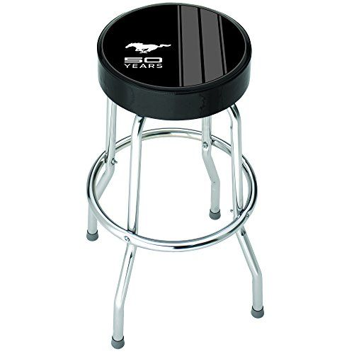 #philanthropy The Officially Licensed Plasticolor Ford Mustang 50 Year Anniversary Garage Stool makes a stylish fashion statement.
