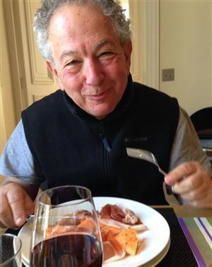Summer Lunch Jeffrey Enjoying Cantaloupe Sprinkled With