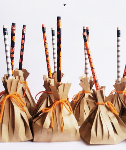Witch Broom Favors | Kid-friendly favors you can make yourself.