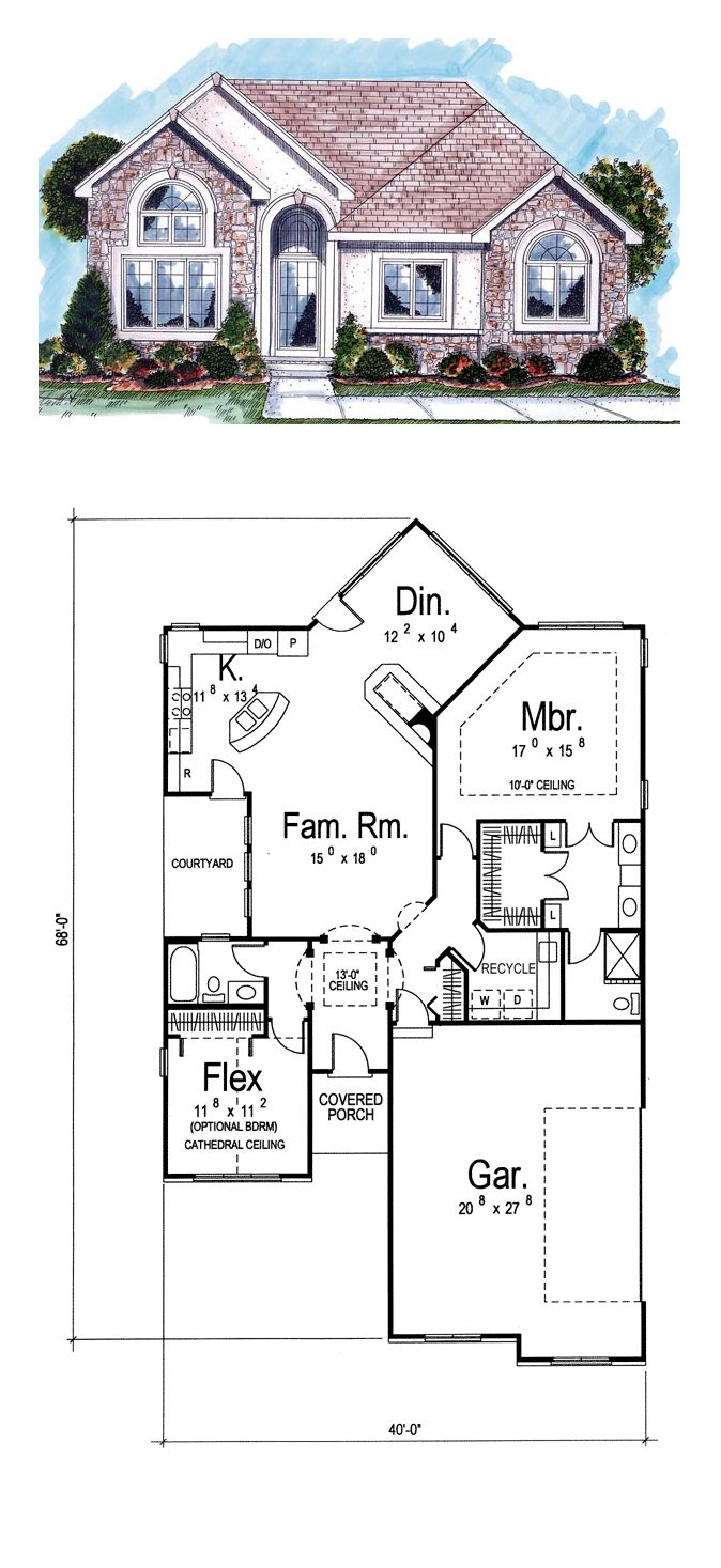 cool cathedral ceiling home plans. COOL House Plan ID  chp 34044 Total Living Area 1502 sq 16 best Florida Plans images on Pinterest Cool house plans